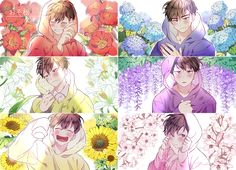 ImageFind images and videos about anime, osomatsu-san and ichimatsu on We Heart It - the app to get lost in what you love. Gato Anime, Manga Anime, Anime Art, Kawaii Anime, Osomatsu San Doujinshi, Gekkan Shoujo Nozaki Kun, Otaku, Another Anime, Ichimatsu