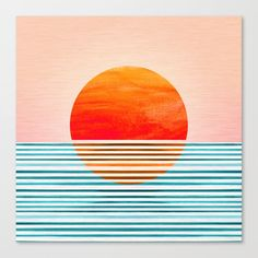 Minimalist Sunset Canvas Art by Modern Tropical Sunset Canvas, Canvas Art, Canvas Prints, Modern Tropical, Arte Popular, Abstract Landscape, Landscape Photos, Framed Art Prints, Modern Art Prints