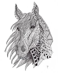 DIY: Horse Coloring For Adults