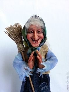 """Купить Кукла """"Старушка-Веселушка"""" - кукла, авторская кукла, баба-яга, подарок, оригинальный подарок"""