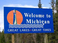 Welcome to Michigan. Took Bobby there when he was 3 to visit my foster sister. 1st time in Michigan.