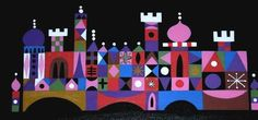 Mary Blair Concept Painting of the Exterior of Its A Small World
