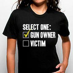 Select One Gun Owner Victim