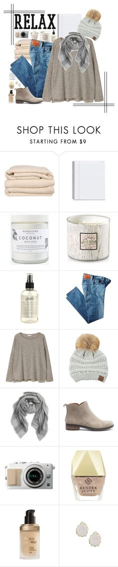 """""""{ relax }"""" by callingmybluff ❤ liked on Polyvore featuring Brahms Mount, Herbivore, philosophy, AG Adriano Goldschmied, MANGO, C.C, Tory Burch, Lucky Brand, Kendra Scott and Too Faced Cosmetics"""