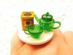 Tea Ring Kawaii Miniature Food Ring