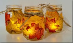 Fall Mason Jar Crafts - Fall Craft Ideas Using Mason Jars - Fall Crafts for Kids Using Mason Jars - Mason Jar Craft Ideas