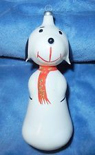 VTG PEANUTS SNOOPY CHARLIE BROWN DOG GLASS CHRISTMAS ORNAMENT ITALIAN ITALY NICE