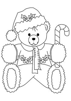 Teddy Bear Coloring Pages Great pictures and easy to print