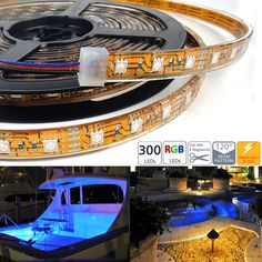Waterproof 300 High Power RGB LED Flexible Light Strip - 300 LEDs 5M/reel