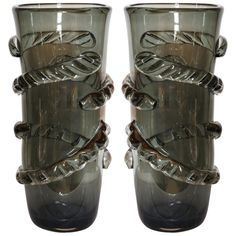 1stdibs.com | Pair of Vases in Murano Glass