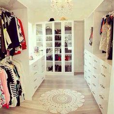 Walk in wardrobe. White.