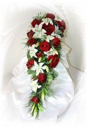 Brautstrauss mit Lilien extra gross, Bridebouquet with lilies