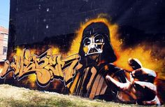 So awesome.. this really is a well integrated, unique graf piece.. hats off to the artist