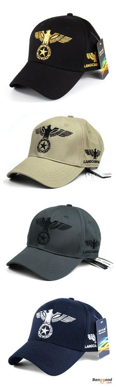 99de4167a8b Cotton Eagle Embroidery Baseball Cap Outdoor Sports Breathable Sun Hat For  Mens