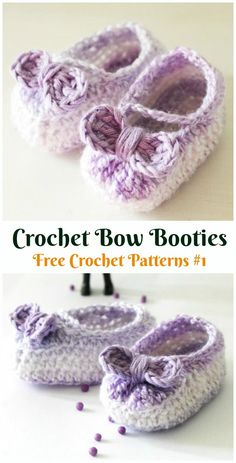 Bow Booties Baby Slippers Crochet Free Pattern - Baby Slippers Free Patterns Crochet Baby Booties Slippers Free Patterns: Crochet Baby Booties Slippers for Spring and Crib Walkers, Easy Quick Crochet Gifts for Baby girl and boy Crochet Baby Cocoon Pattern, Baby Booties Free Pattern, Crochet Baby Blanket Beginner, Booties Crochet, Crochet Baby Booties, Crochet Slippers, Quick Crochet, Newborn Crochet, Crochet Gratis