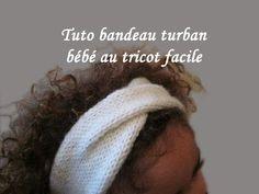 Tuto tricot bandeau facile pour bébé avec un nœud papillon - YouTube