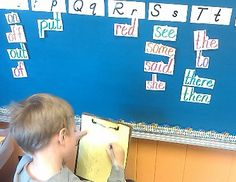 Pictures of Classroom Centers   While writing the room, children practice writing high frequency words ...