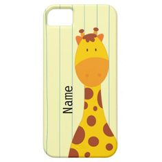 Cute Giraffe - iPhone 5/5S Case - Personalize it with your child's name <3