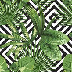 Palms Over Diamonds   Removable Wallpaper   WallsNeedLove