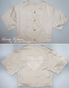 jacket with lace heart on the back
