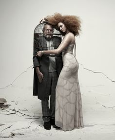 Terry Gilliam and Lily Cole