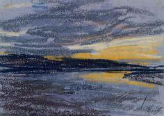 """Eugene Boudin, """"Sunset,"""" 1852"""