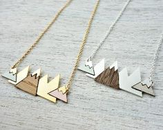 Mountain Necklace, perfect gift for a hiker/nature lover<3