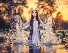 Even she still splashed around in the water like a child...
