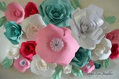 A personal favorite from my Etsy shop https://www.etsy.com/listing/455089874/paper-flowers-flower-wall-wall-decor