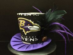 Baltimore Ravens Mini Top Hat. Great for by daisyleedesign on Etsy, $29.95