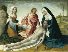 La lamentación sobre Cristo muerto / The Lamentation over the dead Christ // c. 1500 // Juan de Flandes // © Museo Thyssen-Bornemisza, Madrid #GoodFriday