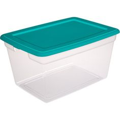 Sterilite 58-Quart Storage Box Teal Sachet - $5.97 23.5 L x 17  sc 1 st  Pinterest & Free 2-day shipping on qualified orders over $35. Buy Sterilite 12 ...