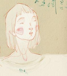 Sans titre | par Adara . Art And Illustration, Adara Sanchez Anguiano, Drawing Sketches, Art Drawings, Arte Inspo, Portrait Art, Portraits, Creepy Art, Hippie Art