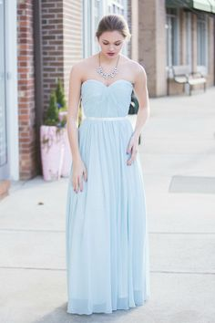 Chiffon Sky Maxi Dress