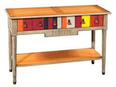 Mesa consola rectangular de madera JACOB   Mesa consola con cajones Colección Jacob by Grange