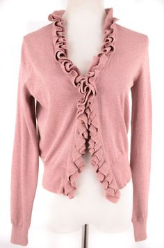 Moda International Pink Cardigan Size M