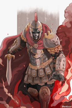 """""""The Roman Centurion ☠️⚔️ For Honor Characters, Dnd Characters, Fantasy Characters, Fantasy Character Design, Character Design Inspiration, Character Concept, Character Art, Armor Concept, Concept Art"""