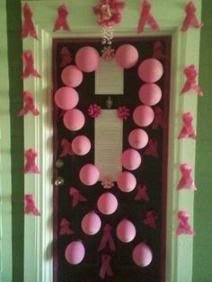 Another Entry for our Breast Cancer Awareness Door Decorating Contest!