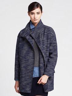 Spring 2015- Textured Cocoon Coat