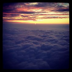 Sunrise from the plane :)