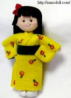 adorable felt japan doll