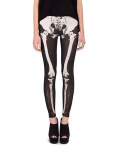 Skeleton Leggings - 2020AVE #leggings #bones #skeleton