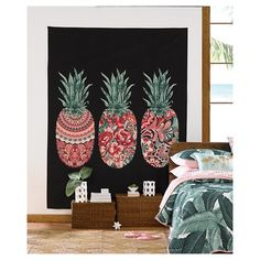 $10.49 | Pineapple Wall Tapestries (60X80) - Multicolor - Hot Now® : Target