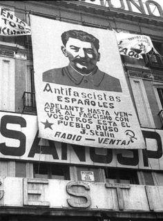 Spain guerra civil/ Correction -Stalin was no Hero Che Guevara Images, Spanish War, Civil War Art, Foto Madrid, Power To The People, History Photos, World History, Military History, Illustrations
