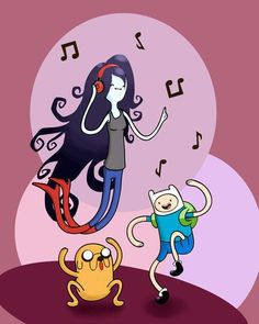 Adventure Time Dancing Colored by artshell.deviantart.com on @deviantART