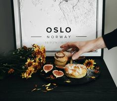 Map poster of Oslo. Print size 50 x 70 cm. Custom black and white map posters online. Mapiful.com