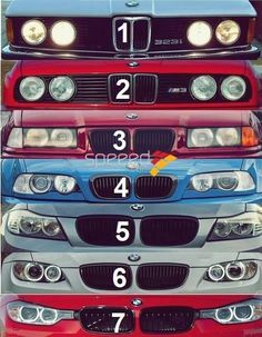 BMW headlights and grills - (3 Series generations)