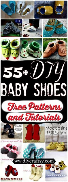 Crochet Baby Shoes DIY Baby Shoes - We are going to show you some amazing ideas to craft the DIY baby shoes of your own. So check out these 60 DIY baby shoes free patterns and tutorials to Diy Clothes And Shoes, Sewing Baby Clothes, Baby Sewing, Sewing Diy, Baby Shoes Pattern, Shoe Pattern, Baby Patterns, Pattern Sewing, Crochet Patterns