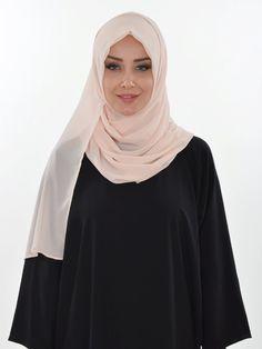 Practical Chiffon Shawl, Ready Turban, Hijab, Tesettur, Shawl, PS-0011 Beige by MelikesDesign on Etsy