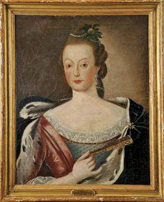 Retrato da Rainha Dona Mariana Vitória (1718-1781) Escola portuguesa, séc. XVIII